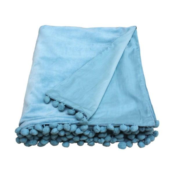 Modrý přehoz Ragged Rose Belinda Velvet