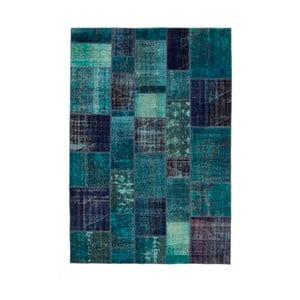 Petrolejový ručně vázaný vlněný koberec Linie Design Century, 200x300cm