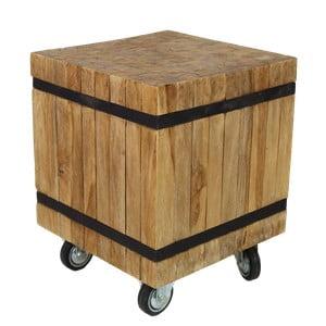 Scaun mobil din lemn de tec HSM Collection Singa