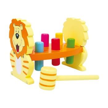 Jucărie motrică din lemn Legler Lion