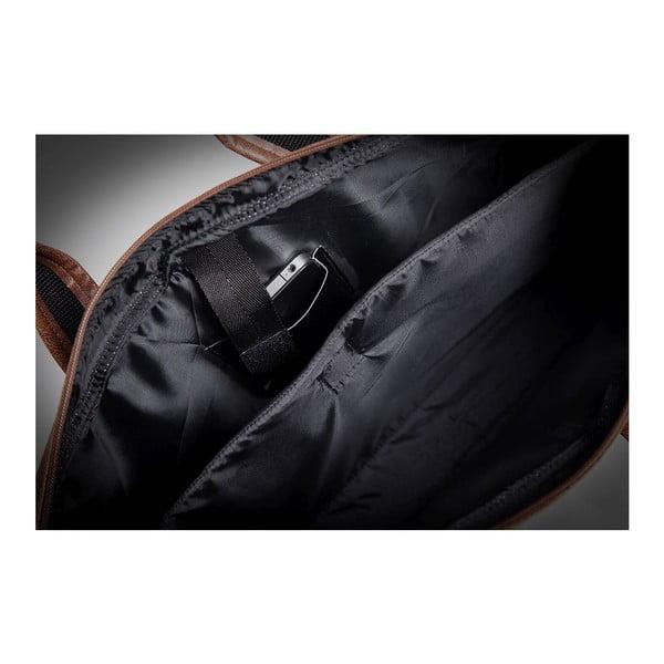 Pánská taška Solier S13, tmavě hnědá