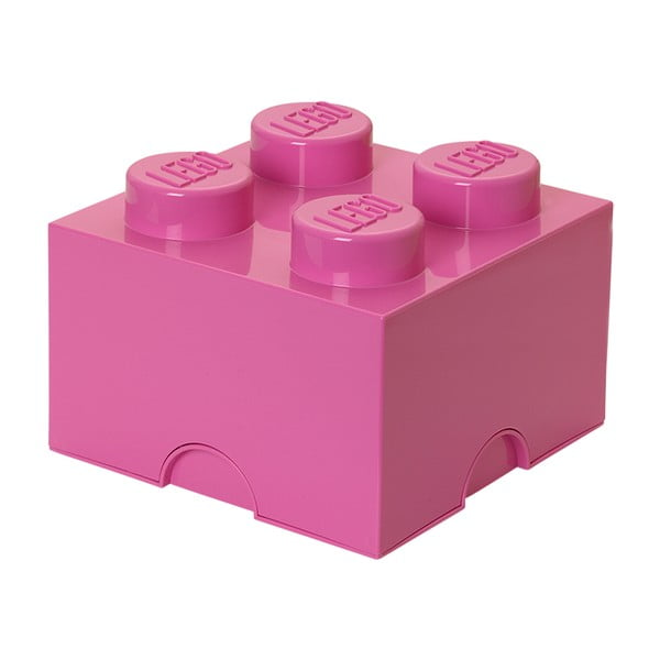 Růžový úložný box čtverec LEGO®