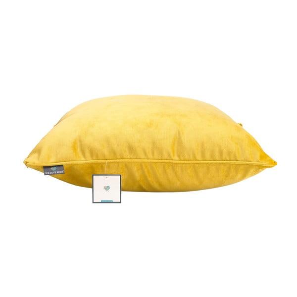 Žlutý povlak na polštář WeLoveBeds Dijon, 50 x 50 cm