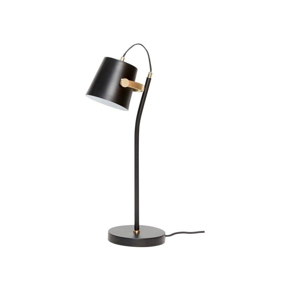 Černá stolní lampa Hübsch Gorel