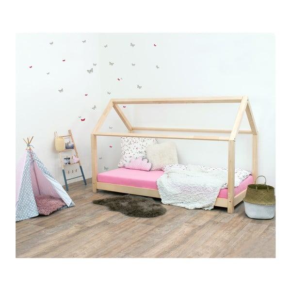 Łóżko dziecięce z naturalnego drewna świerkowego Benlemi Tery, 80x160 cm