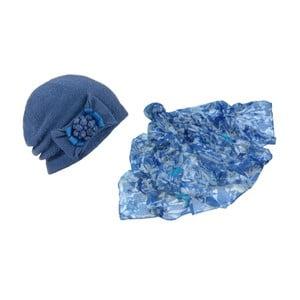 Modrá čepice a šátek Lavaii Francesca