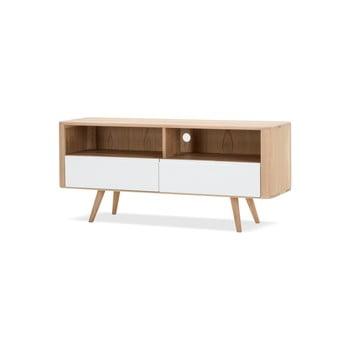 Comodă TV din lemn de stejar Gazzda Ena Three, 135 x 42 x 60 cm imagine
