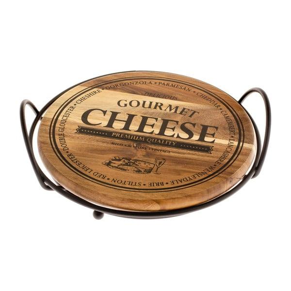 Platou rotund din bambus pentru brânzeturi Dakls Cheese