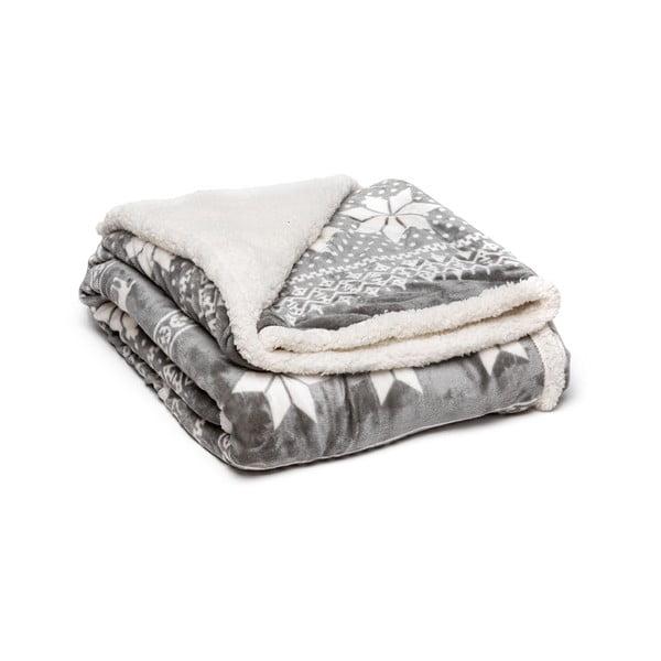 Winter szürke mikroplüss takaró, 150 x 200 cm - My House