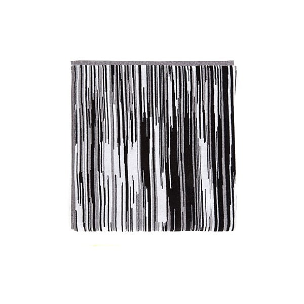 Černo-bílá bavlněná osuška Casa Di Bassi Trendy, 100x180cm