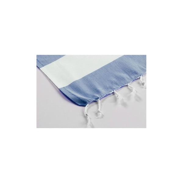 Hamam osuška Myra Slateblue White, 100x180 cm