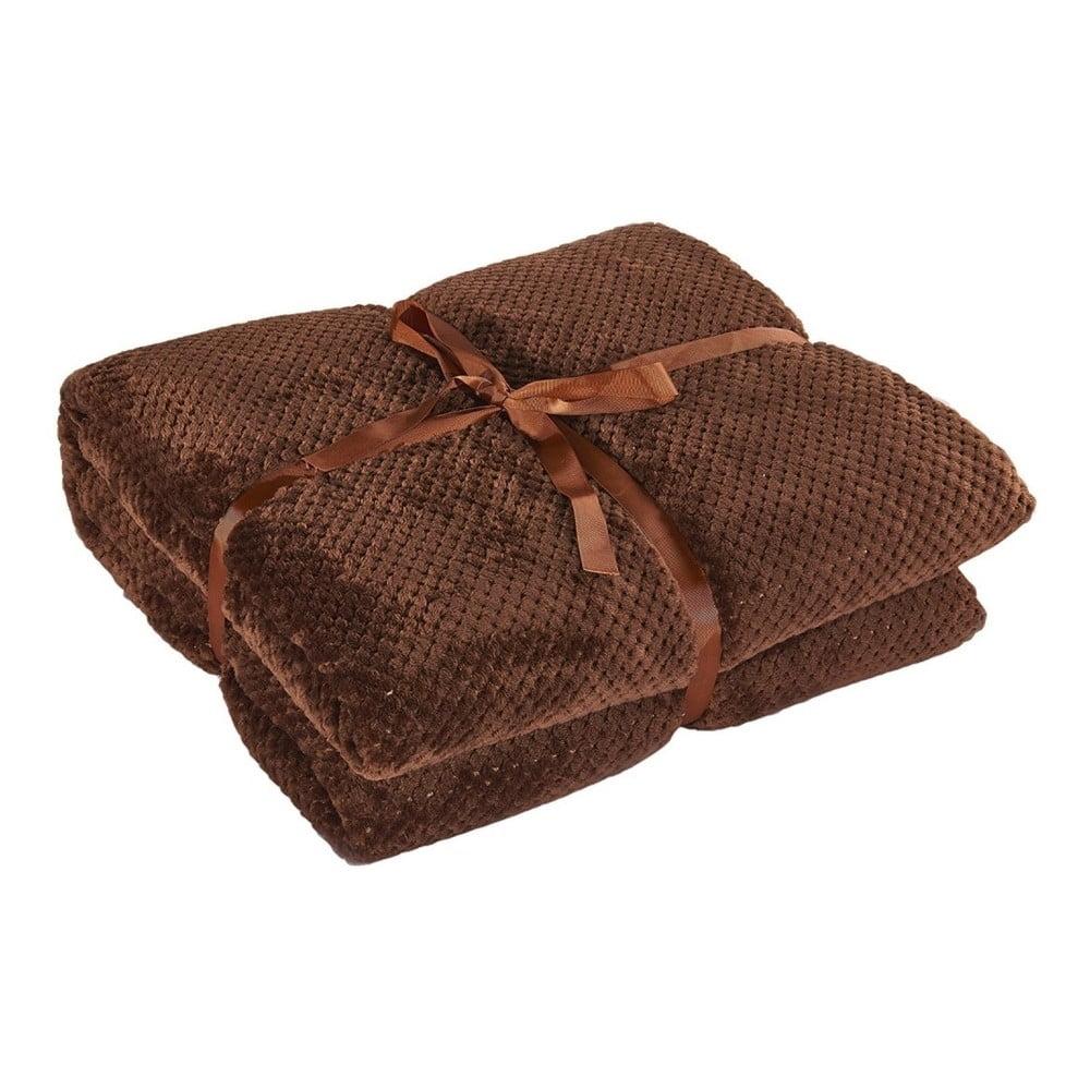 Hnědá deka z mikrovlákna DecoKing Henry, 220 x 240 cm