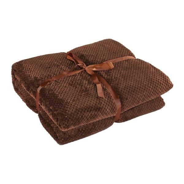 Hnedá deka z mikrovlákna DecoKing Henry, 220×240cm