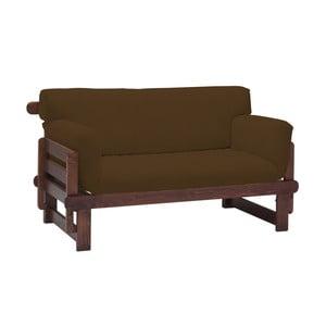 Canapea extensibilă cu 2 locuri 13Casa Karma, maro
