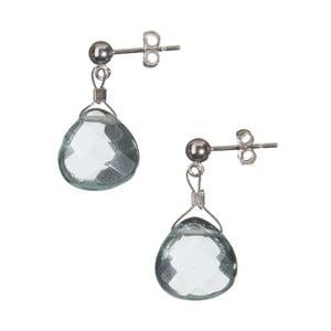 Stříbrné náušnice Aquamarine Quartz (akvamarín)