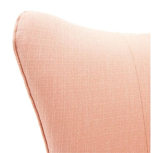 Světle růžové křeslo s černými nohami Vivonita Sandy