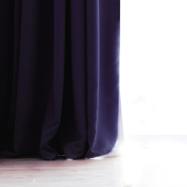 Tmavě šedý závěs DecoKing Pierre, 140 x 270 cm