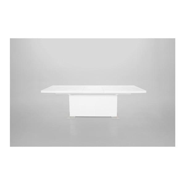 Bílý rozkládací jídelní stůl Actona Brick, délka180-230cm