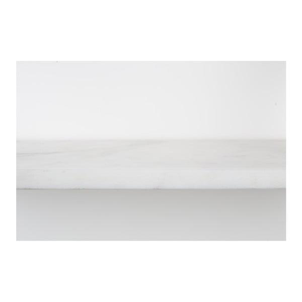 Raft de perete din marmură Zuiver Fad, alb