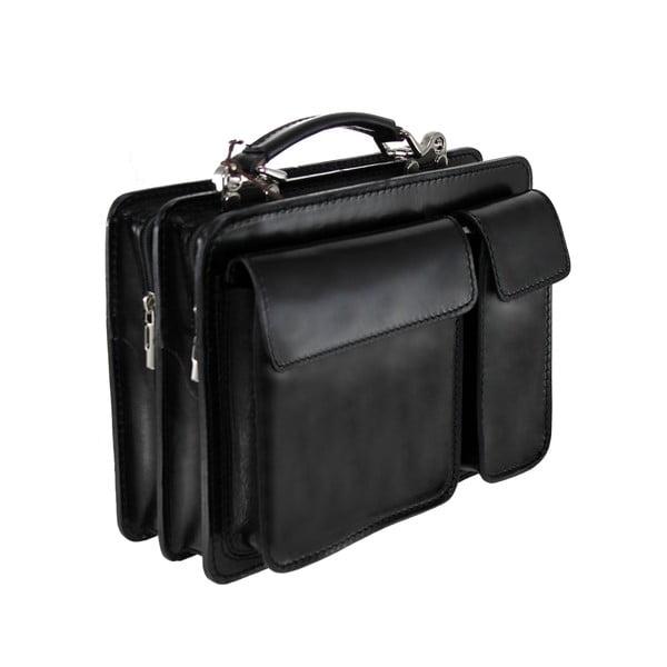 Kožený kufřík Chianti, černý