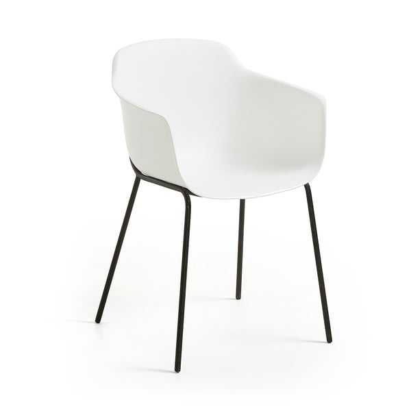 Biela jedálenská stolička La Forma Khasumi
