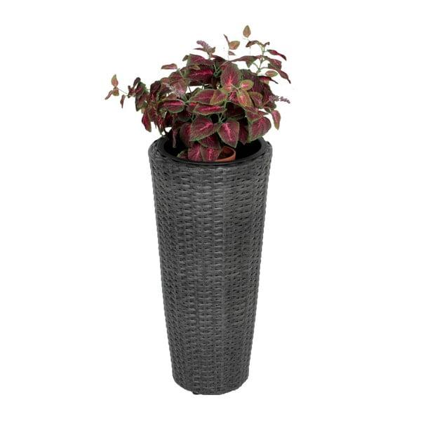 Tmavě šedý zahradní květináč ADDU Planter Round, výška 60 cm