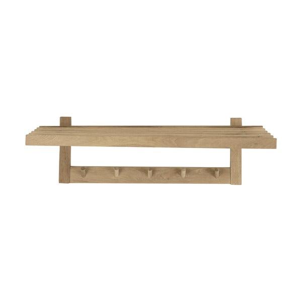 Wieszak ścienny z drewna dębowego Canett Uno