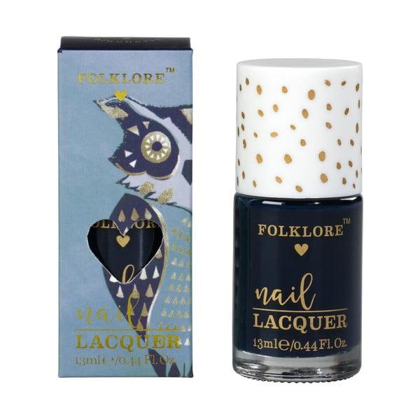 Tmavě modrý lak na nehty Folklore Owl