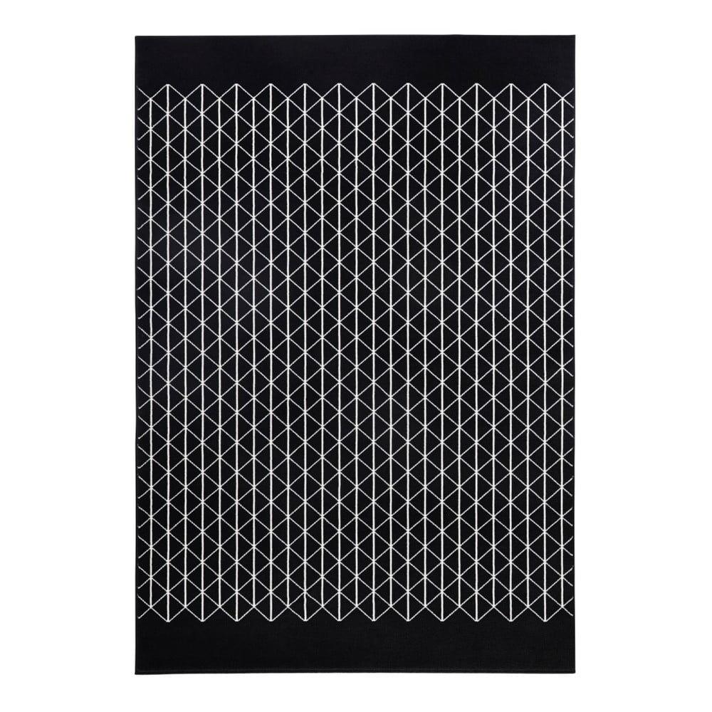 Černý koberec Hanse Home Twist, 160 x 230 cm