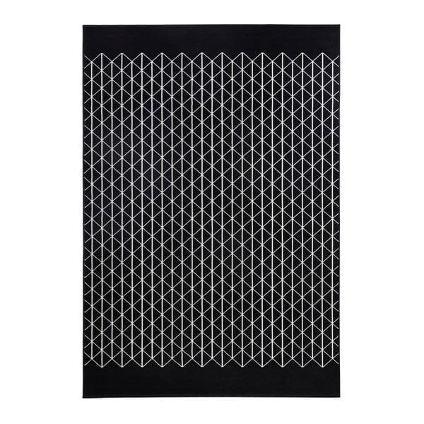 Černý koberec Zala LivingTwist, 70x140cm