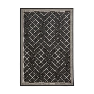 Černý koberec Think Rugs Cottage, 120x170cm