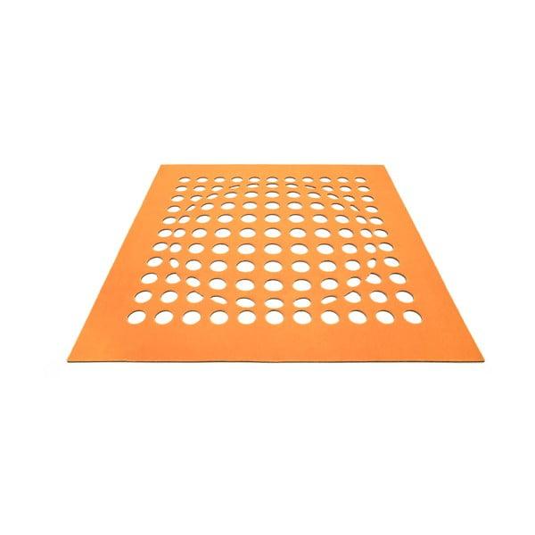 Koberec Sphere 170x170 cm, oranžový