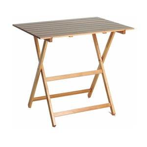 Skládací stůl z bukového dřeva Valdomo King Natural, 60x80cm