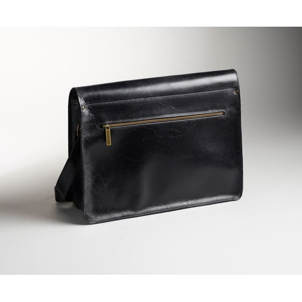 Pánská kožená taška Winter Smoke Messenger, 39 cm