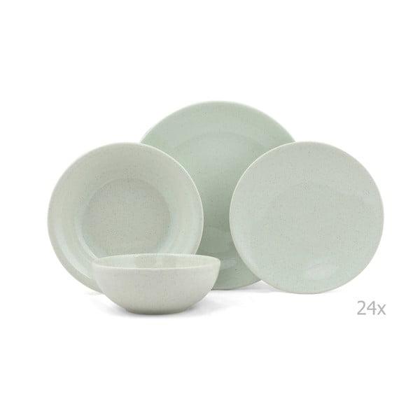 24-częściowy zestaw talerzy porcelanowych Kutahya Buneto