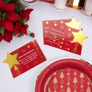 Sada 10 vánočních herních stíracích karet Neviti Dazzling Christmas