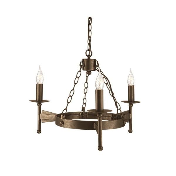 Závěsné světlo Cromwell Three Old Bronze