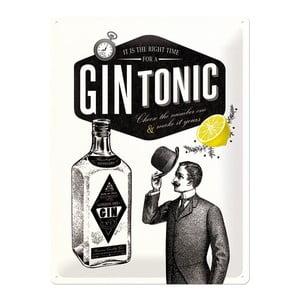 Plechová cedule Gin Tonic, 30x40 cm