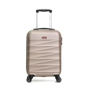 Béžový cestovní kufr na kolečkách Hero Wave
