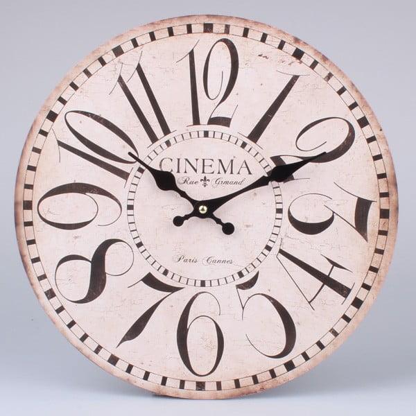 Dřevěné hodiny Paris Cinema, 34 cm