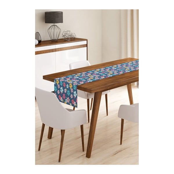 Blue Flowers mikroszálas asztali futó, 45 x 145 cm - Minimalist Cushion Covers