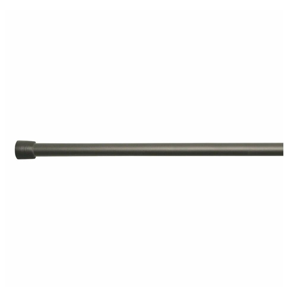 Černá tyč na sprchový závěs s nastavitelnou délkou InterDesign Rod, délka198 - 275 cm