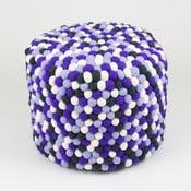 Ručně vyrobený kuličkový puf Lavender Field, kulatý