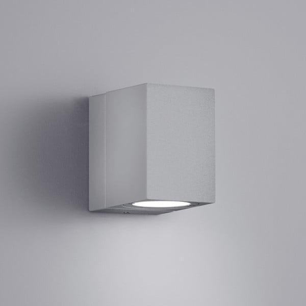 Venkovní nástěnné světlo Tiber Titanium, 10 cm