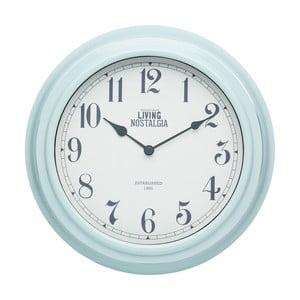 Modré nástěnné hodiny Kitchen Craft Living Nostalgia Blue, 25,5 cm