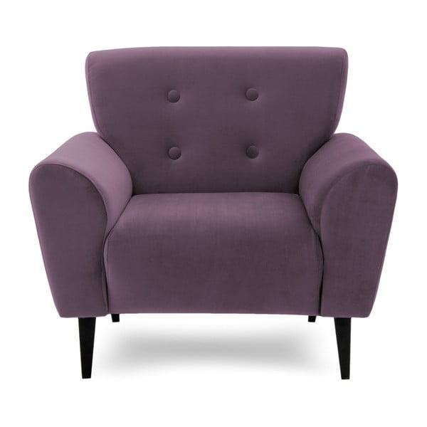 Fioletowy fotel Vivonita Kiara