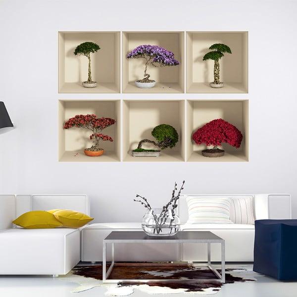 Set 6 autocolante cu efect 3D Fanastick Home
