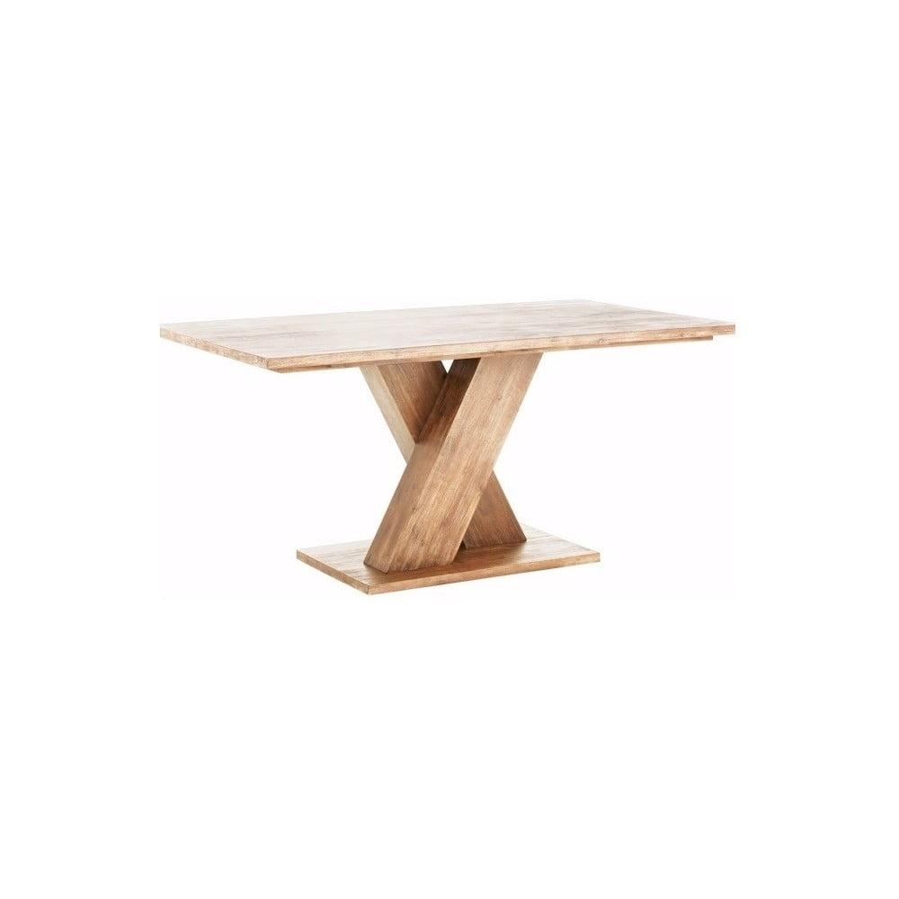 Hnědý jídelní stůl z masivního akáciového dřeva Støraa Khan, 90x160cm