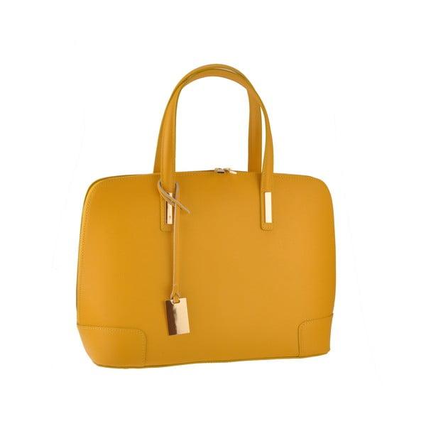 Kožená kabelka Rena, žlutá