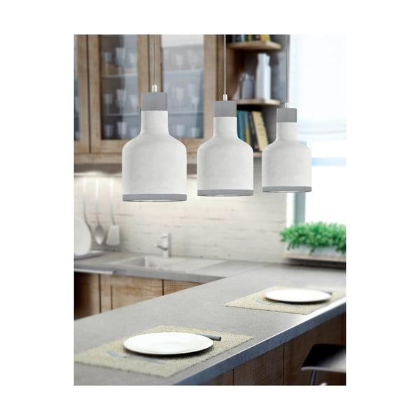 Šedé závěsné svítidlo pro 3 žárovky Trio Rodney, výška 1,5 m